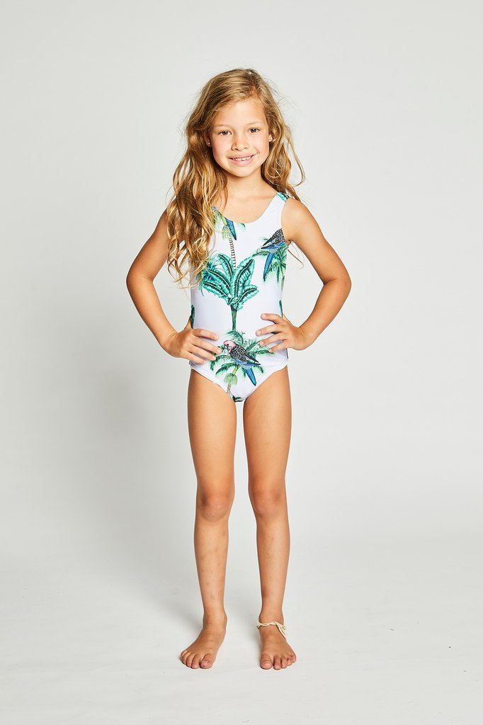 girls - hawaii swimmer - lilac print