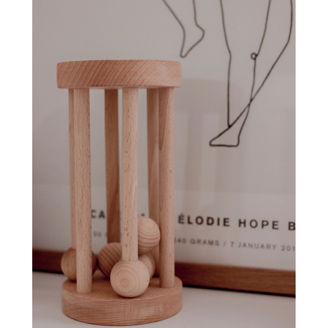 Arabella + Autumn Wooden Rolling Rattle