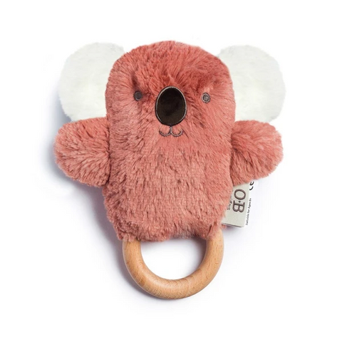 OB Designs Wooden Teething Ring - Kate Koala