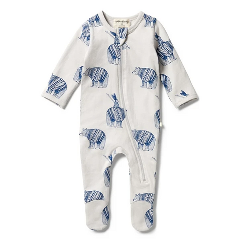 Wilson & Frenchy - Organic Zipsuit with feet - Little Adventures