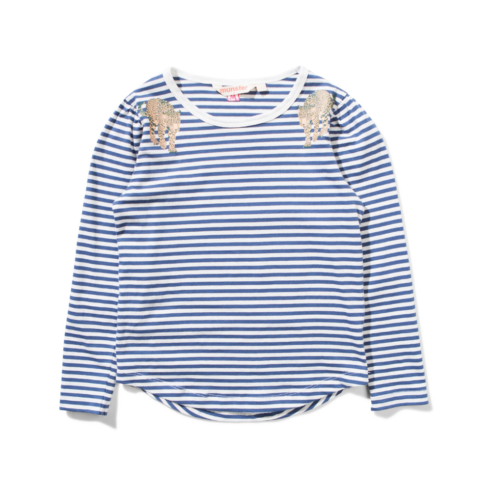 Missie Munster -  Isabelle Long Sleeve Tee - navy/white
