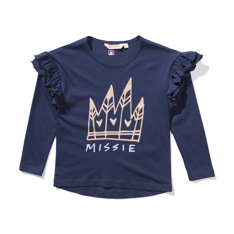 Missie Munster -  Romy Long Sleeve Tee - navy or white