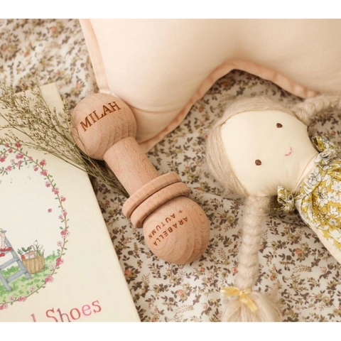 Arabella + Autumn Wooden Hubble Rattle