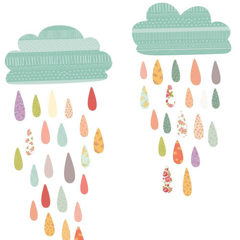 Love Mae - Fabric Decals- Summer Rain