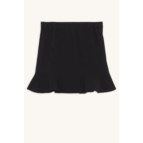 girls - bianca frill mini - black