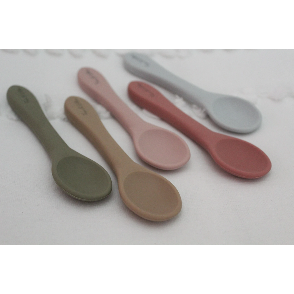 Foxx & Willow - All Silicone Spoon - 2 Pack - Blush