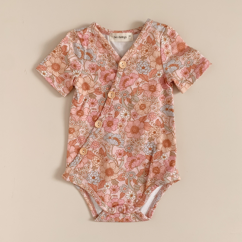 Two Darlings Short Sleeve Bodysuit - Wildflower