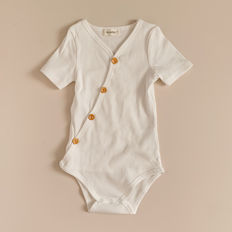 Two Darlings Short Sleeve Bodysuit - Milk