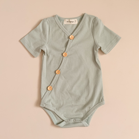 Two Darlings Short Sleeve Bodysuit - Spearmint