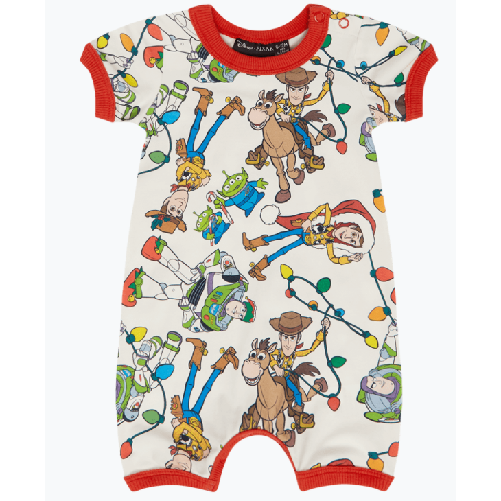 Rock Your Baby Christmas Toys Playsuit - Cream