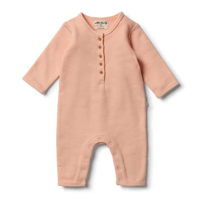 Wilson & Frenchy - Tropical Peach Speckle Growsuit