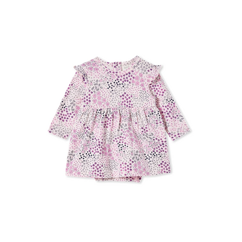 Milky - Patchwork Baby Dress - Blossom Pink