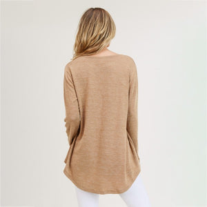 Tan Knit Sweater Top