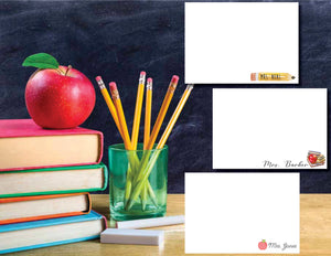 Personalized Teacher Note Cards