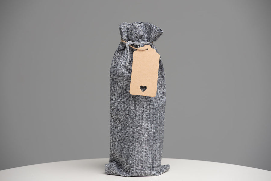Luxurious Mocoum Wine Bags with Drawstrings, rope and adorable tag