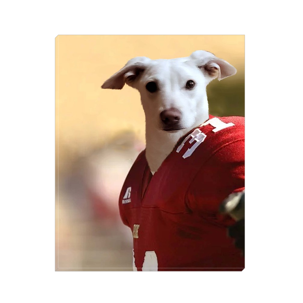 Custom Football Player Portrait for Kimberly 2