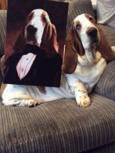 The Admiral: Custom Pet Portrait on Canvas