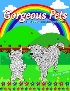 Gorgeous Pets: A Mandala Coloring Book for Adults