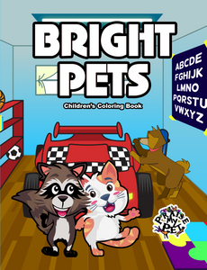 Bright Pets: Children's Coloring Book