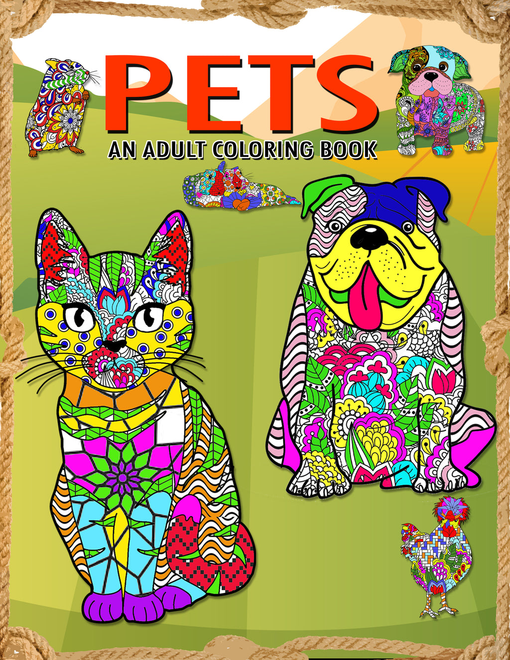 Pets: Adult Coloring Book