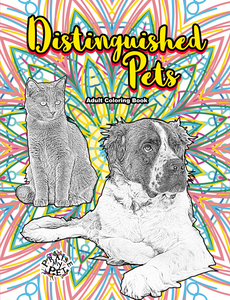 Distinguished Pets: Adult's Coloring Book