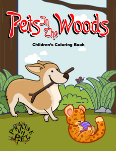 Pets in the Woods: Children's Coloring Book