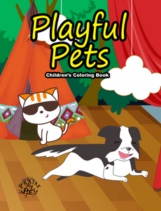 Playful Pets: Children's Coloring Book