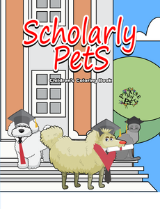 Scholarly Pets: Children's Coloring Book