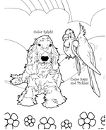 Pets In The Spring: A Pet Coloring Book for Children