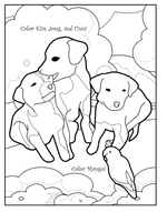 Pets in the Park: Children's Coloring Book