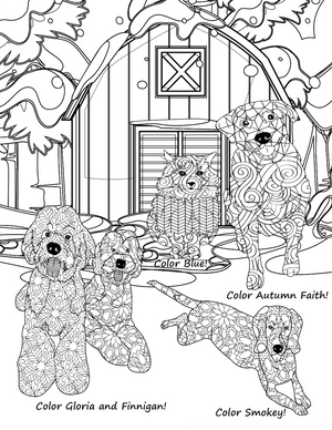 Pets in the Winter: A Mandala Coloring Book for Adults