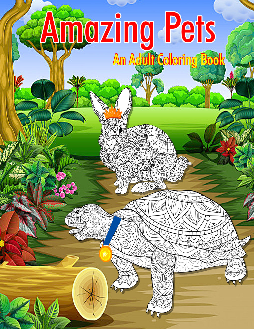 Amazing Pets: A Mandala Coloring Book for Adults