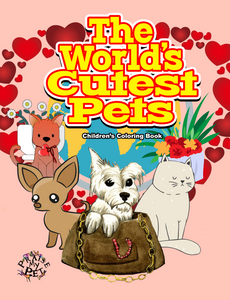 The World's Cutest Pets: Children's Coloring Book