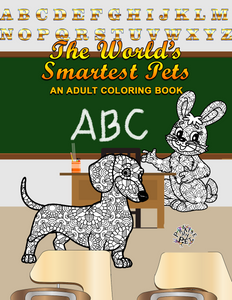 The World's Smartest Pets: A Mandala Coloring Book for Adults (Pre-Order)