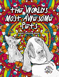 The World's Most Awesome Pets: A Mandala Coloring Book for Adults (Pre-Order)