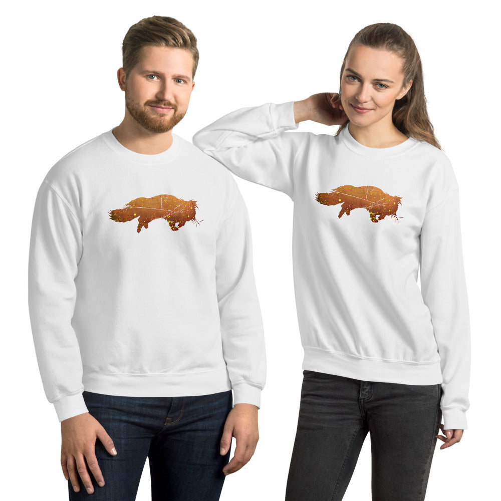 Unisex Crew Neck Sweatshirt: Persian Cat Silhouette
