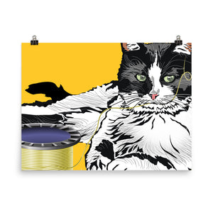 Enhanced Matte Paper Poster (in): Barn Cat