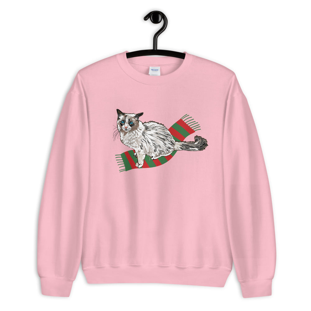 Unisex Crew Neck Sweatshirt: Ragdoll Cat