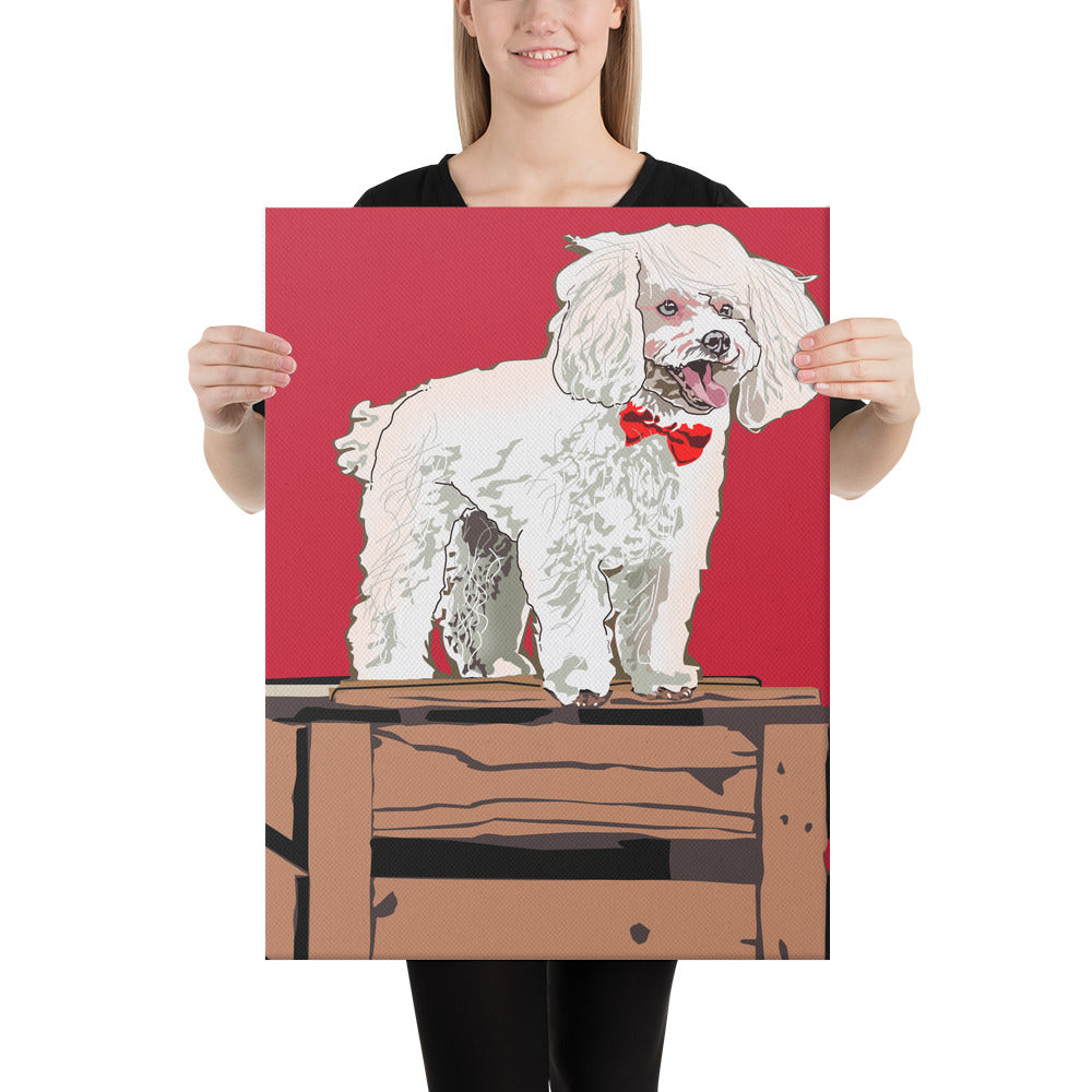 Canvas (in): Poodle
