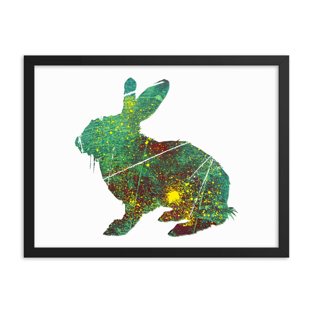 Enhanced Matte Paper Framed Poster (in): Rabbit Silhouette