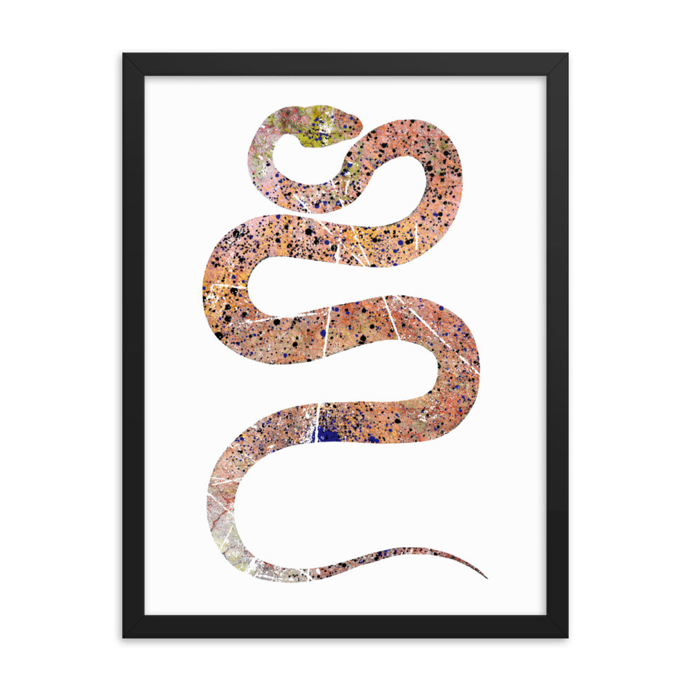 Enhanced Matte Paper Framed Poster (in): Snake Silhouette