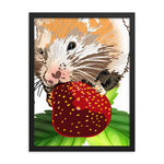 Enhanced Matte Paper Framed Poster (in): Hamster