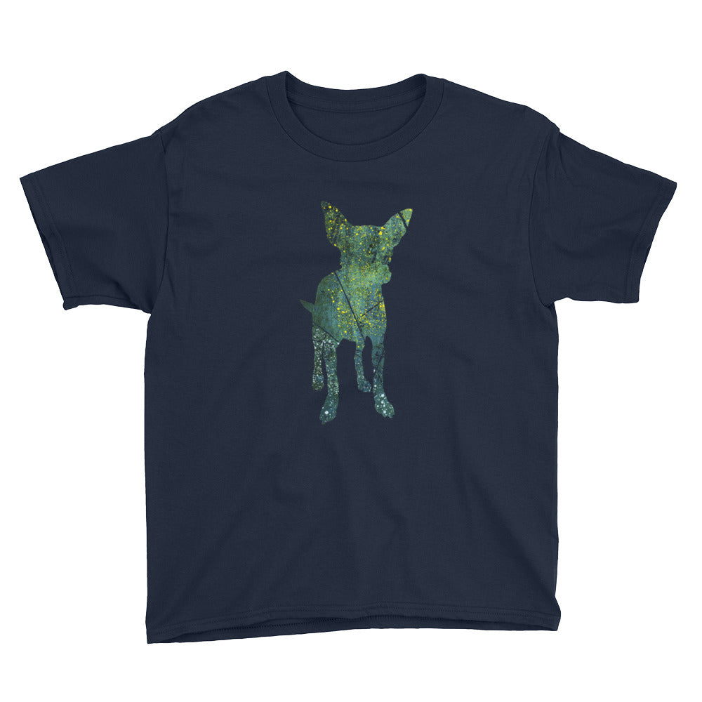 Youth Lightweight T-Shirt: Chihuahua Silhouette
