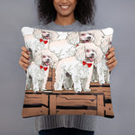 All-Over Print Basic Pillow: Poodle