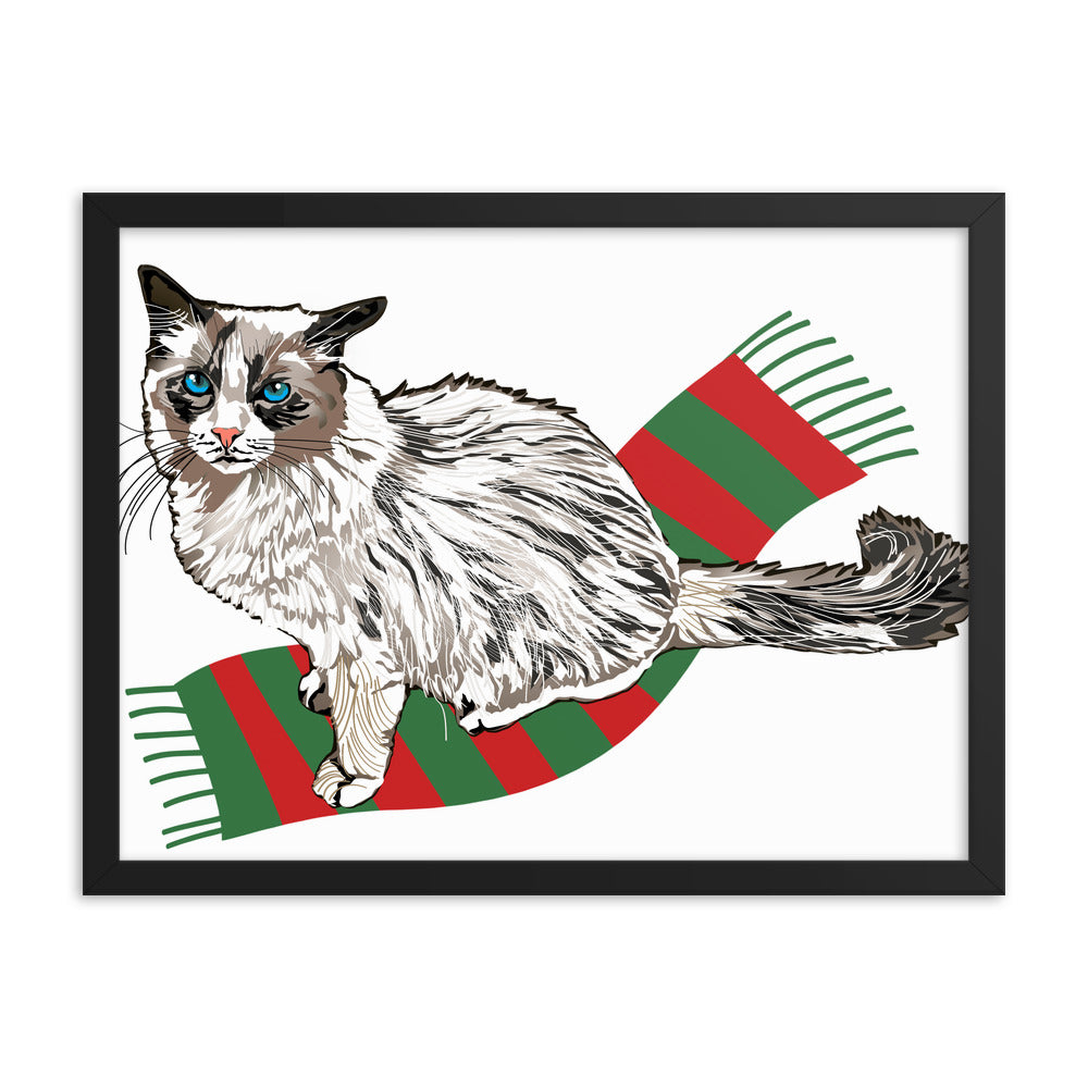 Enhanced Matte Paper Framed Poster (in): Ragdoll Cat