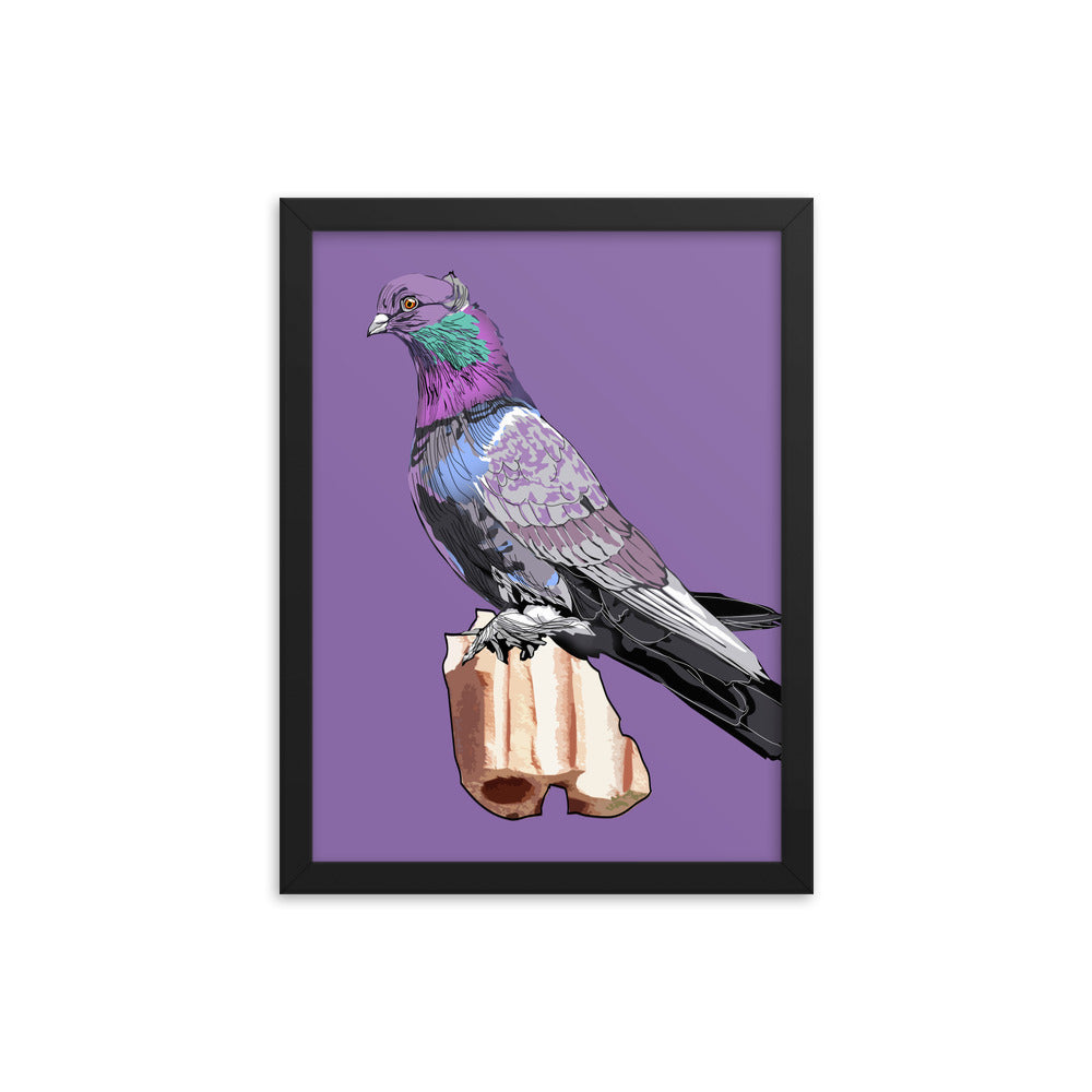 Enhanced Matte Paper Framed Poster (in): Pigeon
