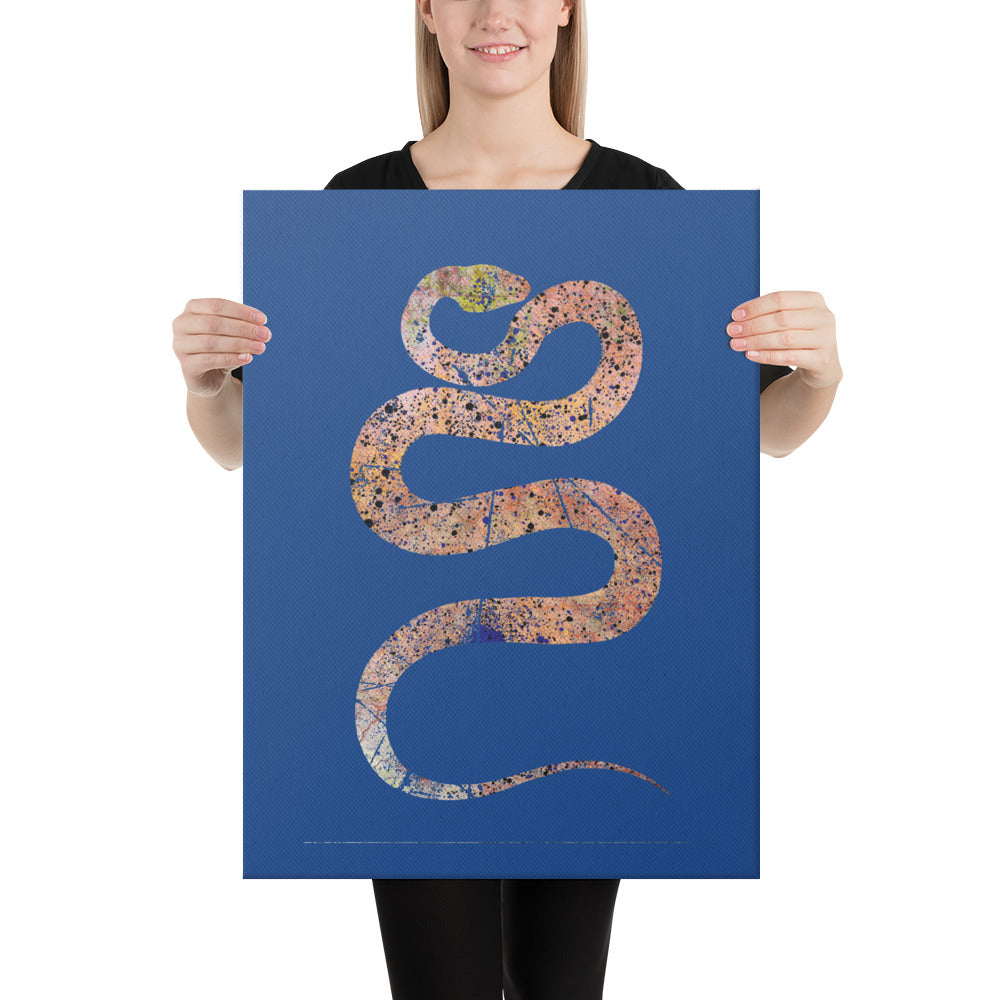 Canvas (in): Snake Silhouette