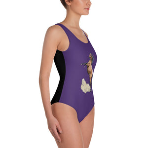 All-Over Print One-Piece Swimsuit: Horse