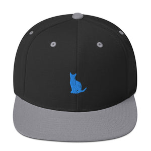 Classic Snapback: Abyssinian Cat Silhouette