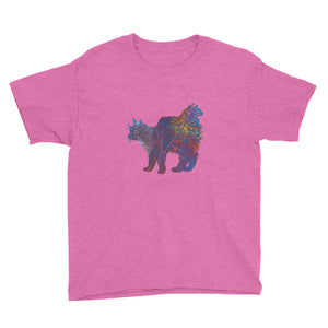 Youth Lightweight T-Shirt: Main Coon Silhouette